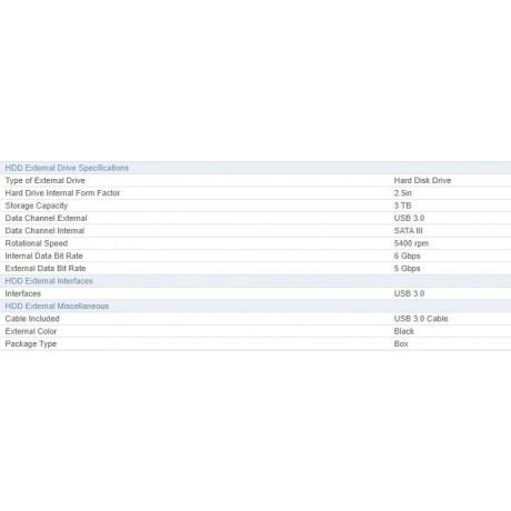 HDD External WD Elements Portable 3TB, USB 3.0