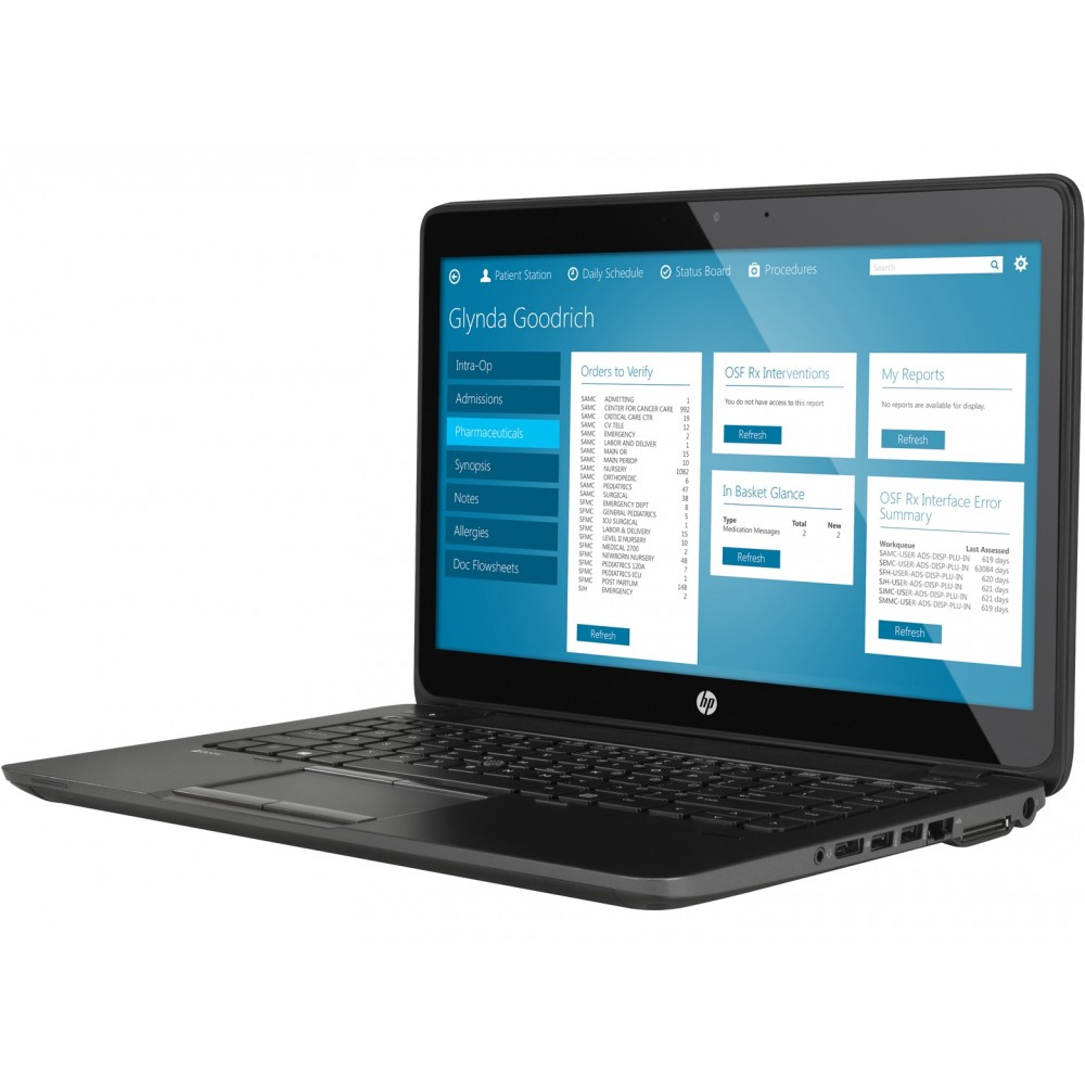 HP Zbook 14 G2 с процесор Intel i7 - 5600U, 16GB DDR3, 180GB SSD, 14''HD+, FirePro M4150