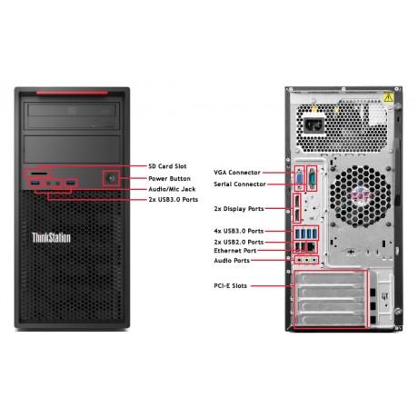 Lenovo ThinkStation P300 с процесор Core i7 - 4790, 16GB DDR3, 256GB SSD