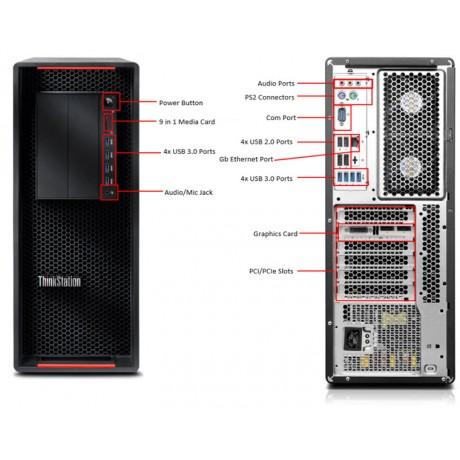 Lenovo ThinkStation P500 с процесор Xeon E5-2603 v3, 16GB DDR4, 1TB, Quadro NVS510